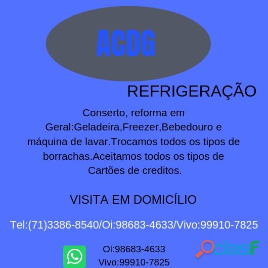 Acdg Refrigeração conserto de geladeira,freezer e etc...