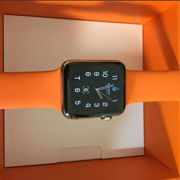 Apple watch hermès series 3 inóx   4g   silicone hèrmes