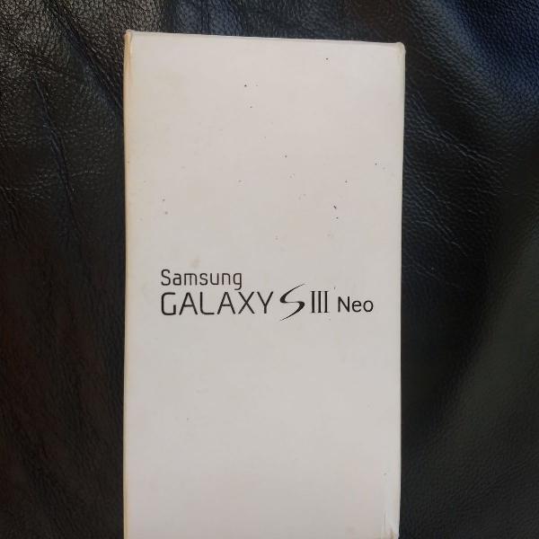 Caixa vazia com manuais samsung galaxy s3 gt-i9300