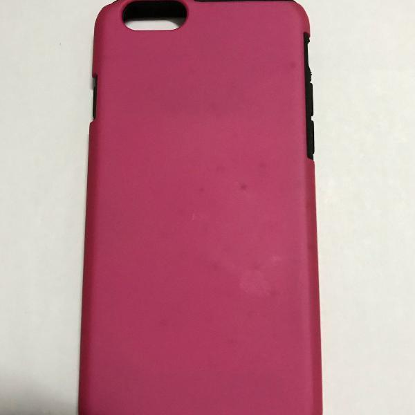 Capa case para iphone 6/6s rosa e preta