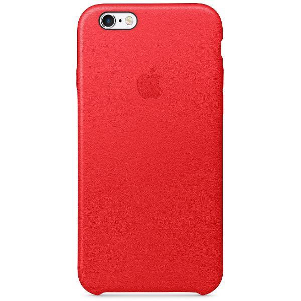 Capa de couro original para iphone 6 e 6s vermelha