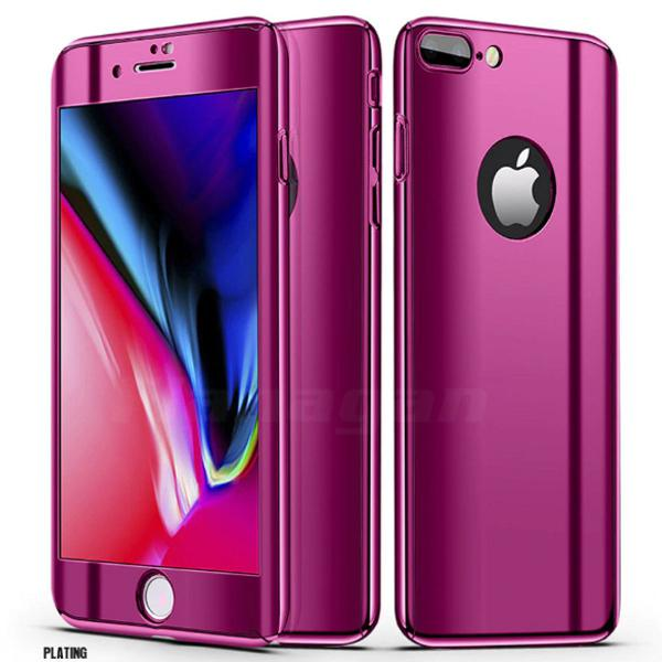 Capa iphone 7 8 roxo escuro espelhado frente e verso +