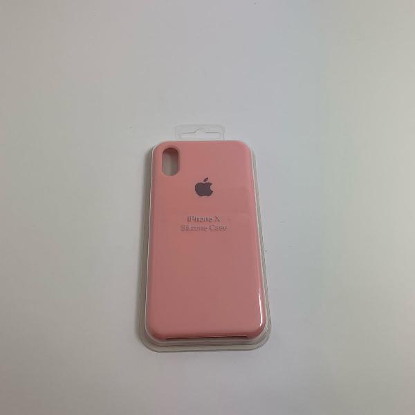 Capa para iphone x - rosa bebê