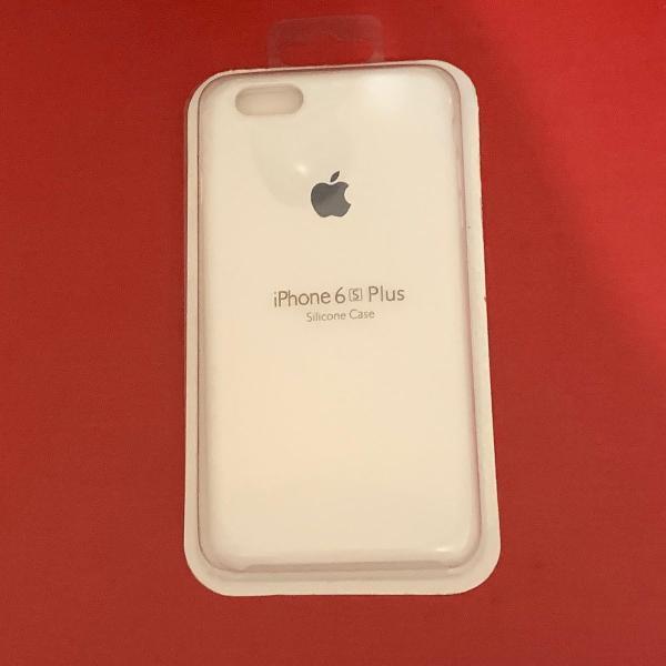 Capa silicone iphone 6 plus 6s plus branca