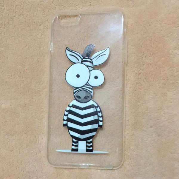 Capa zebrinha iphone 6 plus + película de plástico