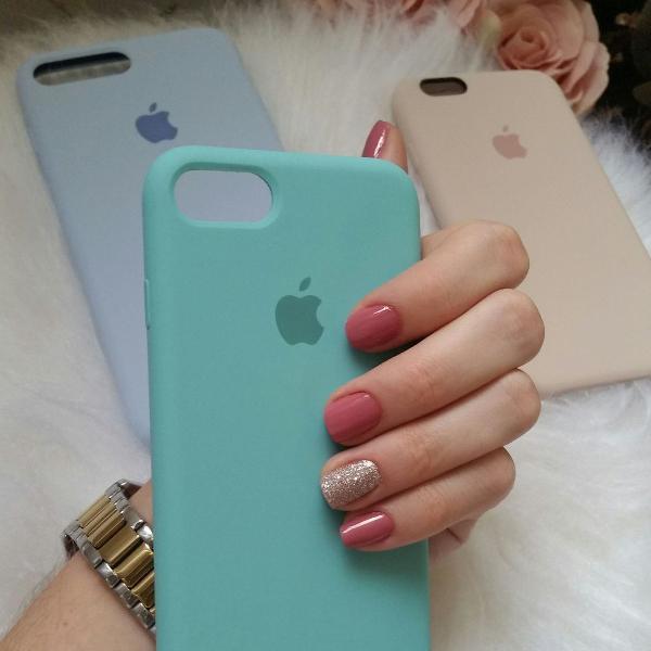 Capinha de celular de silicone apple iphone 7 e 8 cor