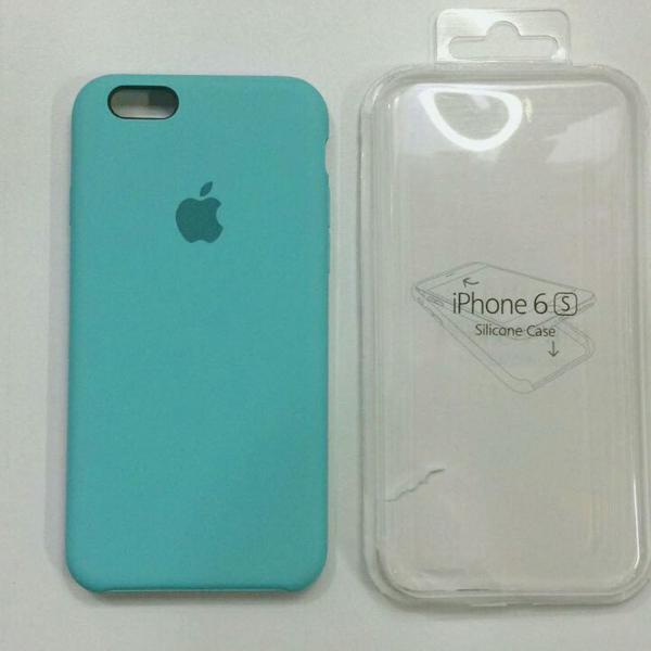 Capinha de celular de silicone iphone 6 / 6s cor azul