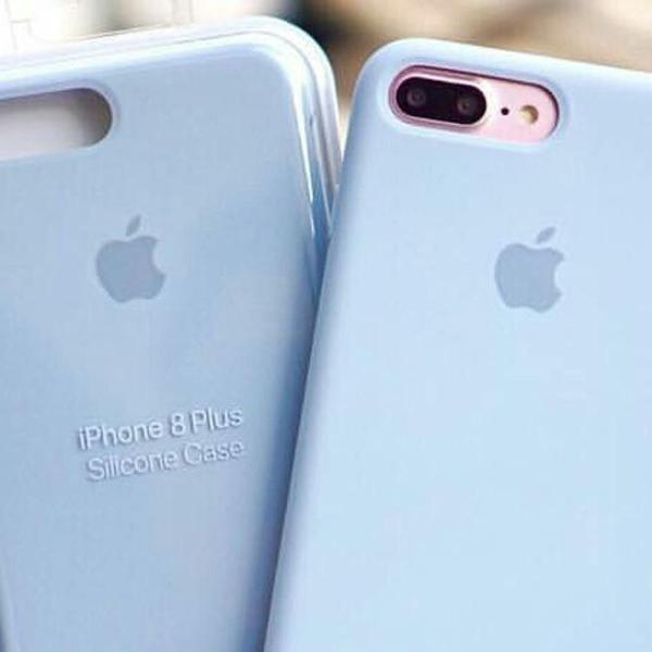 Capinha de celular de silicone para apple iphone 7 plus e 8