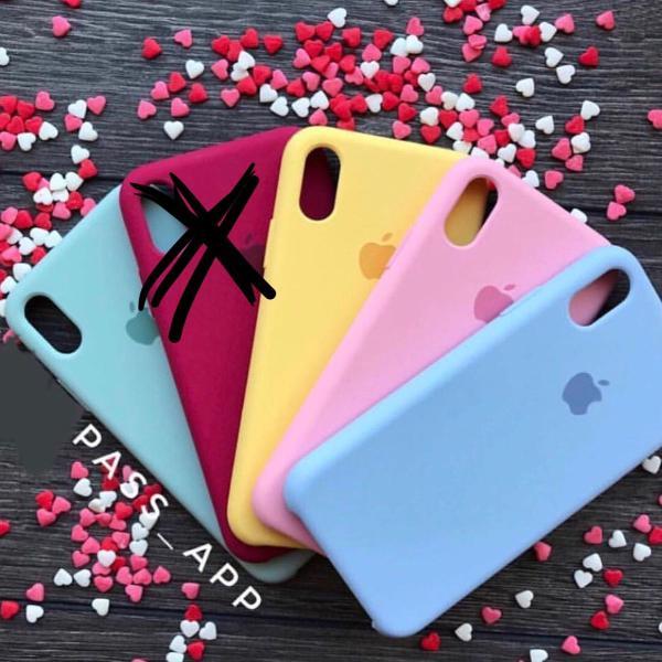 Capinha de celular silicone original apple iphone x rosa