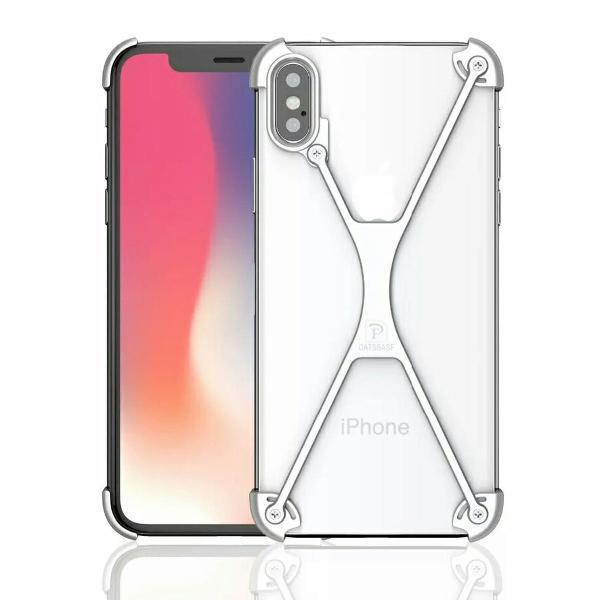 Capinha em x de metal para iphone x ou xs case capa