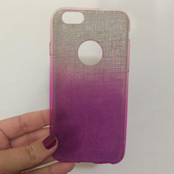 Capinha roxa e prata brilhante - iphone 6/6s