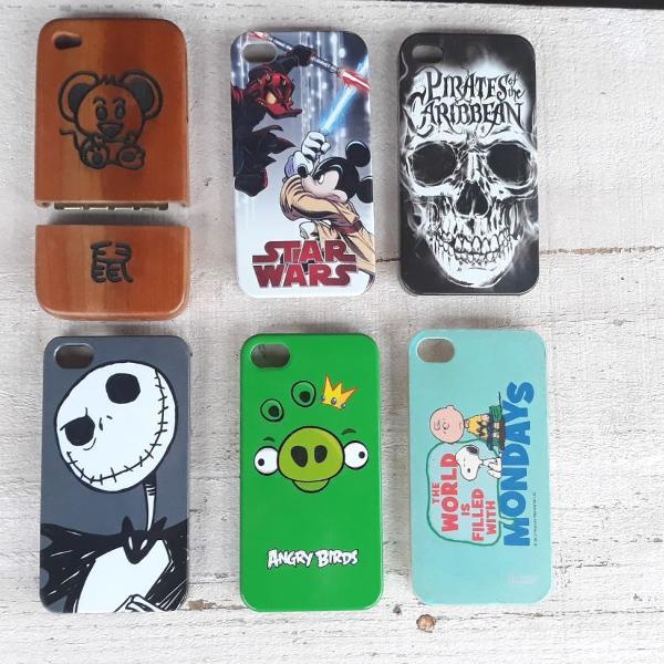 Capinhas / case celular smartphone iphone 4 - 6 unidades