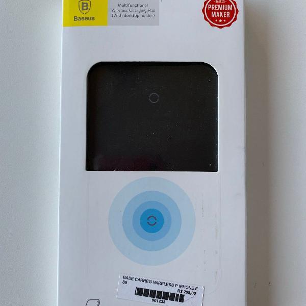 Carregador sem fio baseus - wireless - indução - iphone 8