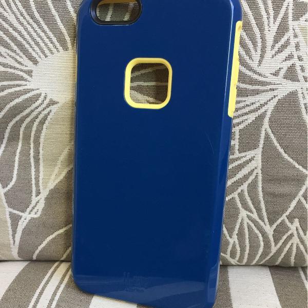 Case capa iphone 6 plus azul amarelo