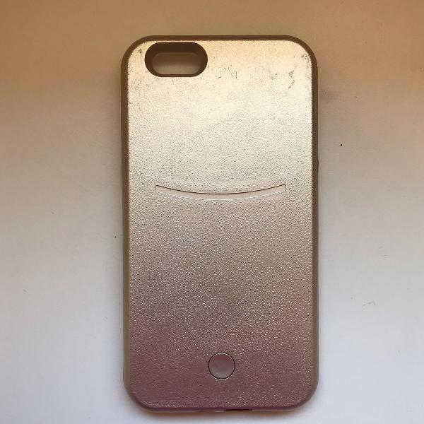 Case/ capinha iluminada iphone 6 plus dourada