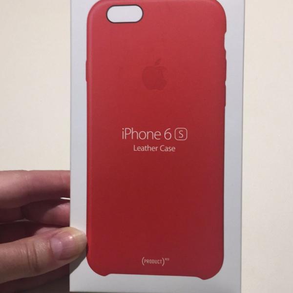 Case couro original apple iphone 6 s