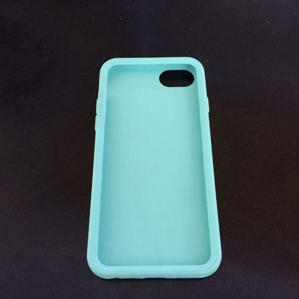 Case iphone 6 verde turquesa silicone 100%