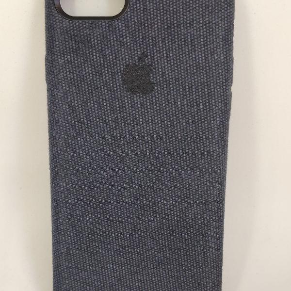 Case iphone 7 iphone 8 azul marinho em tecido jeans