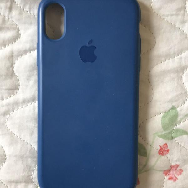 Case iphone x azul marinho