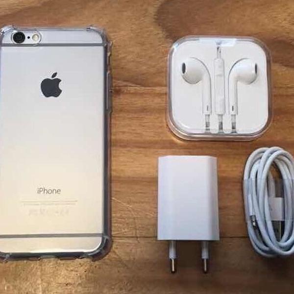 Iphone 6 16gb cinza + acessórios