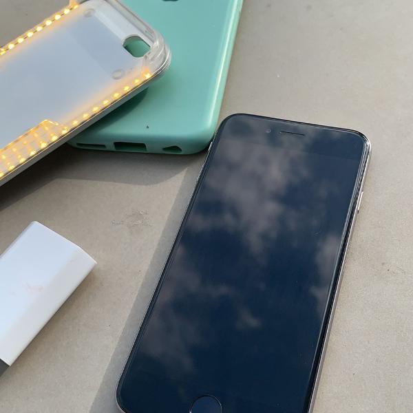 Iphone 6 16gb preto com acessórios