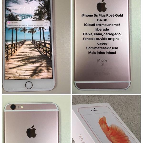 Iphone 6s plus 64gb estado de novo!!