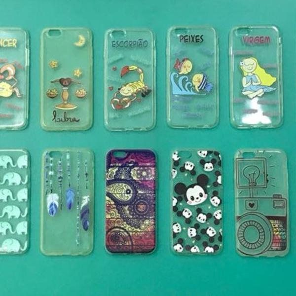 Kit com 43 capas case celular iphone 4 5c 6 plus 6 e 5s