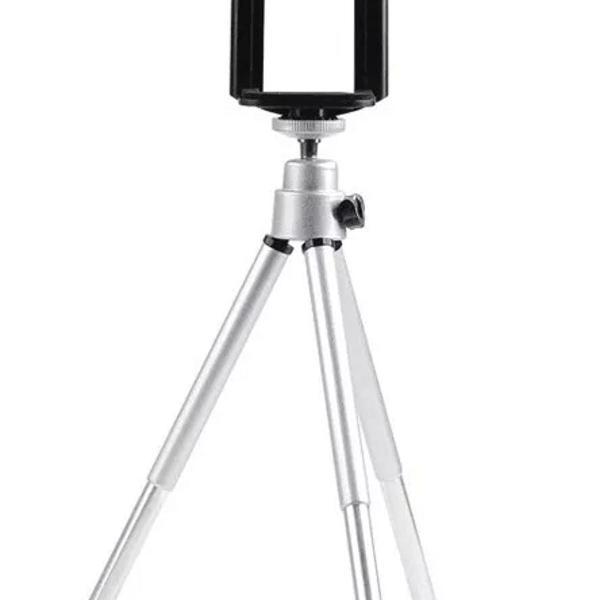 Mini tripé universal celular câmera iphone + suporte