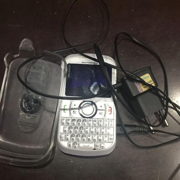 Telefone e radio motorola i475w, com clipe e carregador