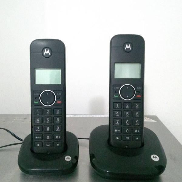 Telefone sem fio motorola com duas bases