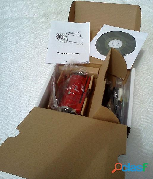 Vendo Filmadora Cam Modelo Spca 1528 Nova Na Caixa Com Acessórios 4