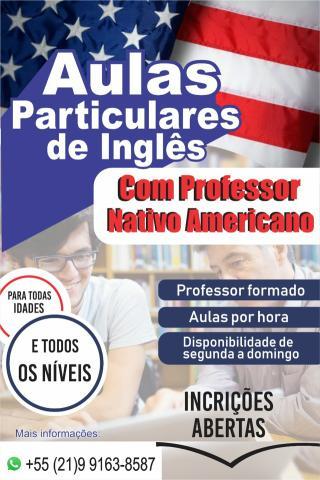 Aulas particulares de inglês com americano