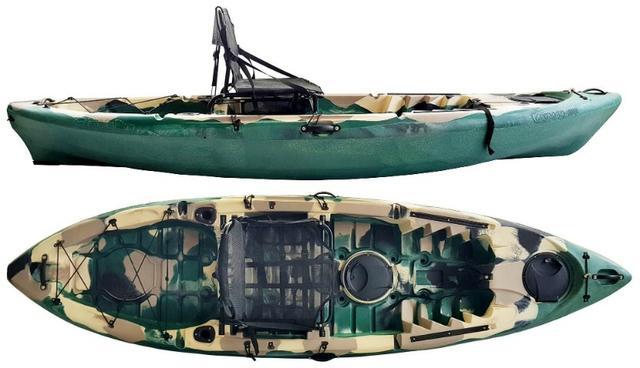 Caiaque de pesca caiman 100 - hidro2 verde camuflado