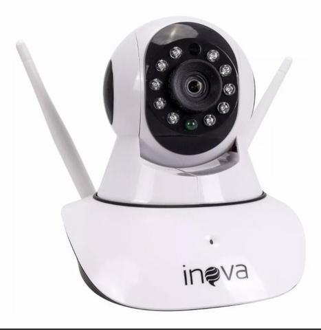 Câmera smart inova sem fio wireless giratória 2 antenas
