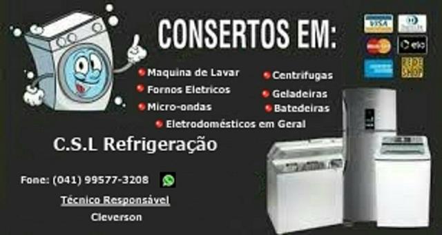 Conserto em geladeiras, lavadoras,secadoras, microôndas