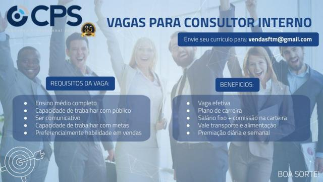 Consultor Interno de Vendas