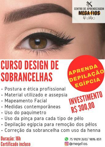 Curso de design de sobrancelhas
