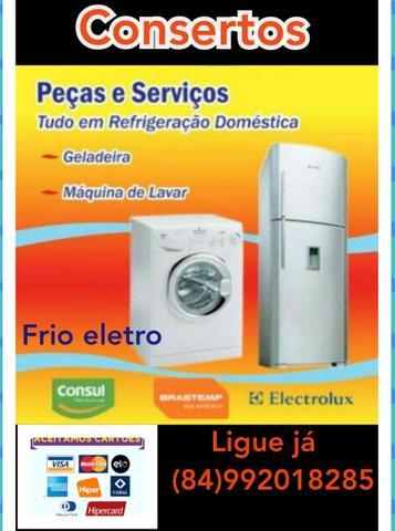 Máquina de lavar roupa geladeira