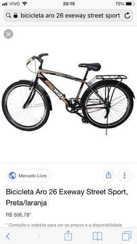 Bicicleta exeway semi nova