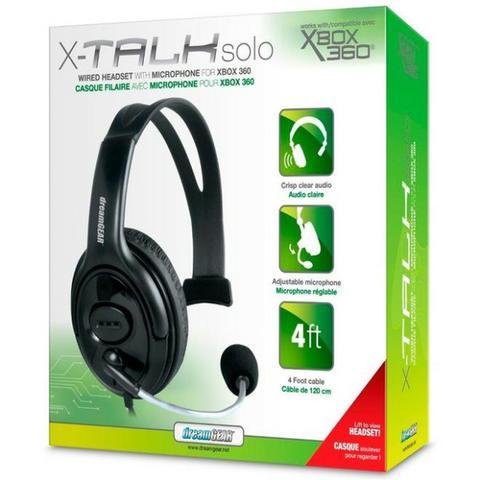 Headphone xtalk microfone xbox 360 dreamgear dg360-1721