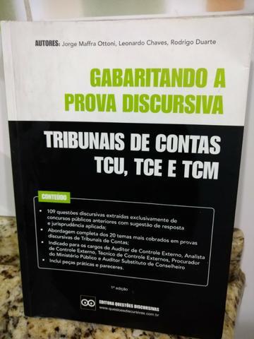 Livro: gabaritando a prova discursiva - tribunais de contas