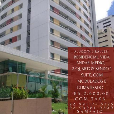 Residencial vida, vieiralves com 2 quartos sendo 1 suite,