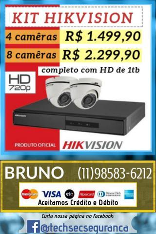 Câmeras hd hikvision