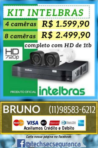 Instalação de câmeras intelbras