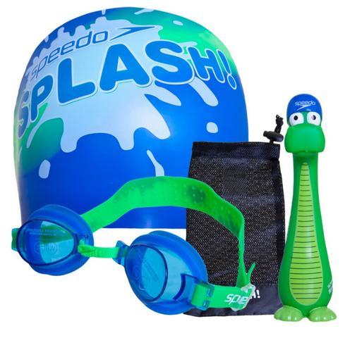 Kit para natação infantil azul - speedo