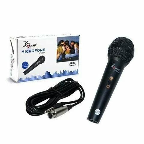 Microfone com fio profissional multimídia knup kp-m0004