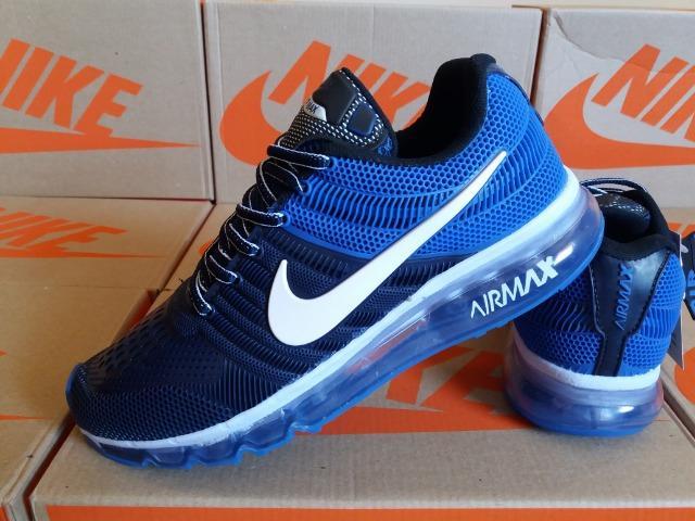 Tênis nike air - azul marinho / azul royal - frete grátis