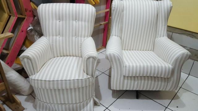 Tapeçaria, reformas de sofás, poltronas, cadeiras