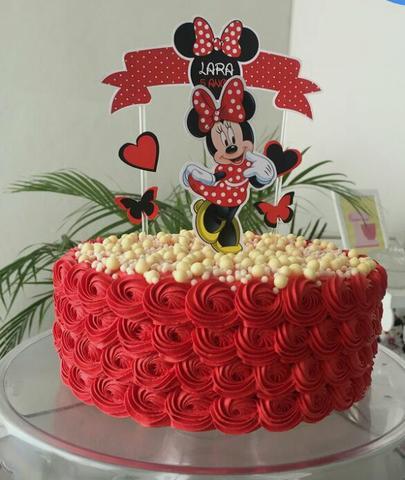 Tema minnie bolo de aniversário