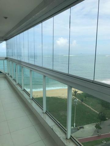 Temporada apto de 2qts suite frente mar praia da costa